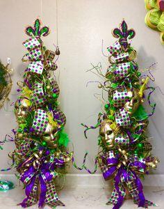 Mardi Gras Topiaries