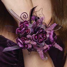 Purple, wrist corsage