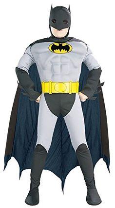 Child BATMAN TOTAL ARMOUR Muscle Chest Fancy Dress Costume Boys Halloween Silver