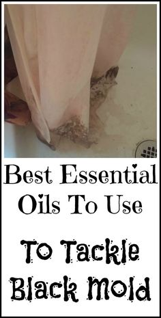 How to use essential oils to kill black mold in your house.: