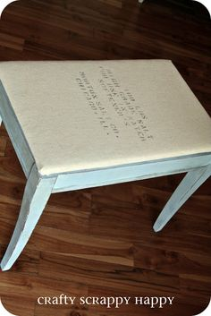 A pretty little stool. | Crafty Scrappy Happy