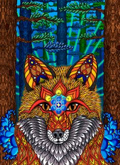Phil Lewis Art ~ The Electric Fox