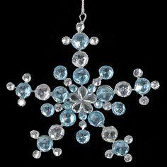 Teal and crystal snowflake