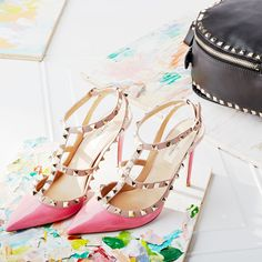 Make it pop in pink Valentino Rockstud heels.