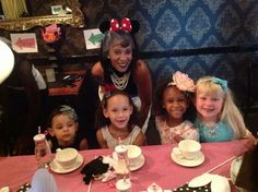 Mommy & me high tea....I glued a veil onto my disney Minnie ears.  Laurens flower etsy.com