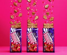 Cadbury chocolate with jelly popping candies! Shot by Maya Visnyei International Chocolate Day, Cadbury Chocolate, Game Day Food, Candies, Wedding Bells, Food Inspiration, Maya, Jelly, Food And Drink