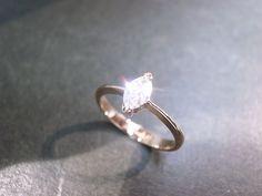 Engagement Diamond Ring in 14K Rose Gold on Etsy, £1,073.72