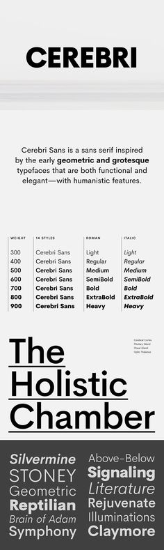 Cerebri Sans - Cerebri Sans is a sans serif inspired by the early geometric and grotesque typefaces that ar...
