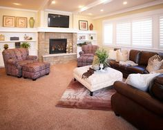 Traditional Family Room Gas Fireplace Tv Design, Pictures, Remodel, Decor and Ideas - page 64