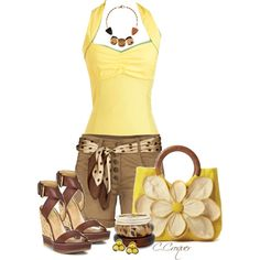 Spring or Summer with Wedges, created by ccroquer on Polyvore