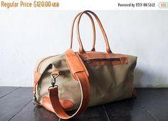 SUMMER SALES weekend bag shoulder bag handmade canvas