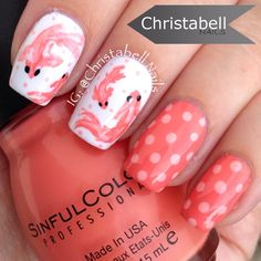 Instagram media by christabellnails - coy fish #nail #nails #nailart