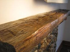 gorgeous beam fireplace mantle