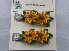 Quilled Paper 2-Sunflower Hair Clip