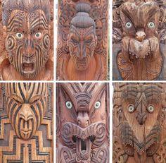 New zealand maori woodcarving