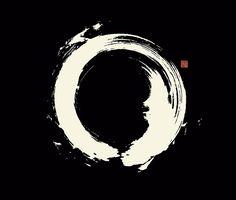 Black Ensō / Japanese Zen Circle