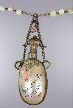 * Sterling Silver Edwardian perfume bottle Brooch
