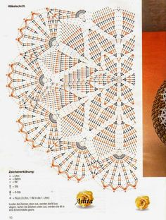 Kira crochet / lots of patterns with charts here. worth checking out. Kira crochet / lots of pattern Crochet Stitches Chart, Crochet Doily Diagram, Crochet Symbols, Crochet Doily Patterns, Thread Crochet, Crochet Motif, Crochet Designs, Crochet Table Runner, Crochet Tablecloth