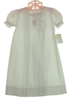 NEW Petit Ami White Daygown with Lamb Embroidery and Pink Trim $45.00