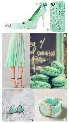this season's mint color is very refreshing!  love the heels!!
