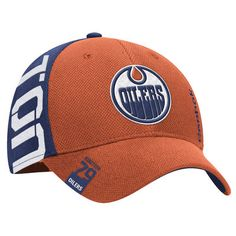 Men s Reebok Orange Royal Edmonton Oilers 2016 NHL Draft Structured Flex Hat  Edmonton Oilers c70ed9ac5676