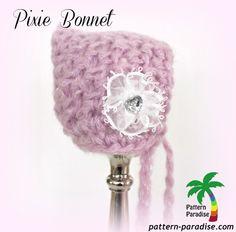 Pixie Bonnet Free Pattern by Pattern-Paradise.com