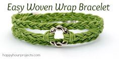 Easy woven wrap bracelet tutorial by Happy Hour Projects.