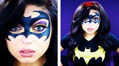 Batgirl/ batman face paint makeup