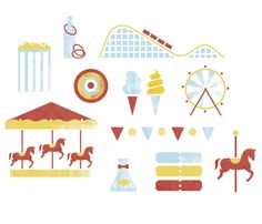 Amusement Park Icon set on Behance