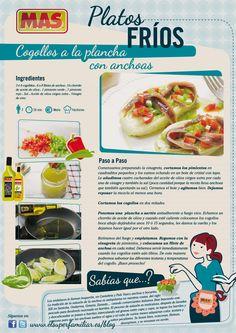 #Receta de cogotos plancha con anchoas, un entrante fácil y rápido de preparar pero que te sorprenderá por su sabor ;)    #InfoRecetas #infografia #gastronomia