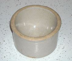 Pictured is a small novel stoneware salt dip. The container has a rounded. interior base for ease of grasping a small quantity of salt to be added to a. 1905 - 1925. It's in excellent condition with a light abrasion at the base. | eBay!