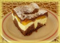 Řezy s broskvemi a tvarohem Slovak Recipes, Czech Recipes, Russian Recipes, Mexican Food Recipes, Sweet Recipes, Healthy Diet Recipes, Cooking Recipes, Chocolate Deserts, Sweet And Salty