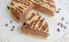 Chocolate Cheesecake with Peanut Butter Sauce Protein Cheesecake, Protein Desserts, Protein Recipes, Chocolate Cheesecake, Protein Foods, Healthy Desserts, Jamie Eason, Peanut Butter Sauce, Clean Eating