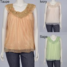 @Overstock - Tonal crocheted embroidery highlights the V-neckline of this airy babydoll blouse from Simply Irresistible. This fully-lined blouse is finished with subtle bow accents and a sheer chiffon overlay.http://www.overstock.com/Clothing-Shoes/Simply-Irresistible-Womens-Plus-Size-Crocheted-Babydoll-Top/6549178/product.html?CID=214117 $31.49