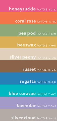 93871d1c431143 Pantone - Spring 2011 Color Swatches