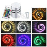 http://ift.tt/1MSLwN9 Aluminum 3W RGB bunte LED Lampe Wandbeleuchtung Wandleuchte Flurlampe Wandlampe Wandleuchten Moderne Designerleuchte mit Fernbedienung