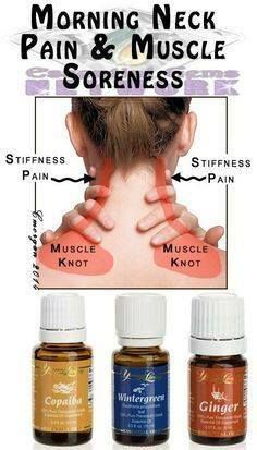 These are great oils to use for a stiff neck. I like to layer them, using wintergreen, ginger and topping it off with copaiba. Then relax and feel the oils working!