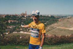 Delgado en Segovia tras ganar #LaVuelta  de 1989 cc