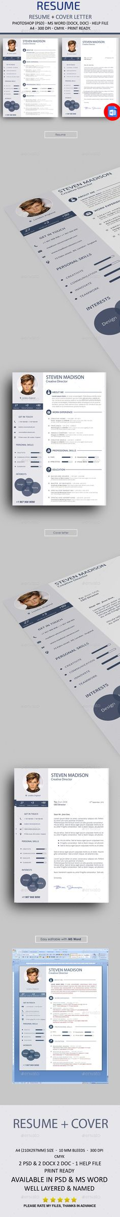 resume word resumes stationery download here httpsgraphicrivernet
