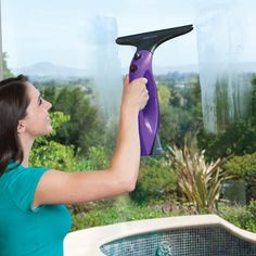 Portable steam cleaning system that lets you quickly and easily clean and sanitize windows, mirrors, countertops, shower doors, bedding, and other surfaces without using harsh cleaning chemicals.