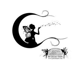 Pin Julie Fain Art Fairy Silhouette Mermaid Faery On Pinterest