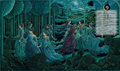 Ladies Dancing from THE TWELVE DAYS OF CHRISTMAS by Laurel Long
