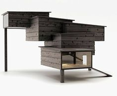 modern chicken coop. Would i have to redesign my entire house to be able to have this beautiful coop? :~)