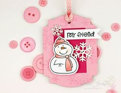 A Kept Life: 25 Days of Christmas Tags with Tracey McNeely!  Stamp from Paper Smooches.