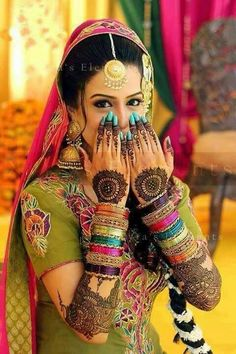 Beautiful henna and hand adornment.