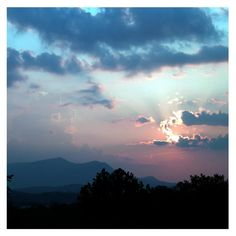 Beautiful sunset over #Pigeon #Forge.