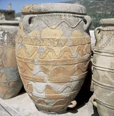 Ancient Greeks of the Minoan civilization made decorated pots
