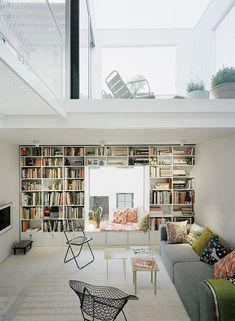 loft with a perfect reading window nook (and a sunny upstairs screened patio?)