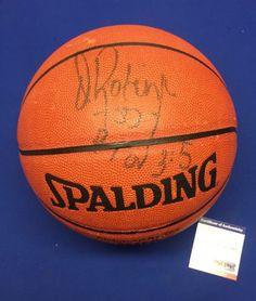 David Robinson Signed NBA I/O Basketball San Antonio Spurs PSA