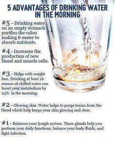 5 advantage of drinking water in the morning! #health #water #benefits #wellness